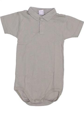 Polo manches courtes garçon PETIT BATEAU gris 3 ans été #1445486_1