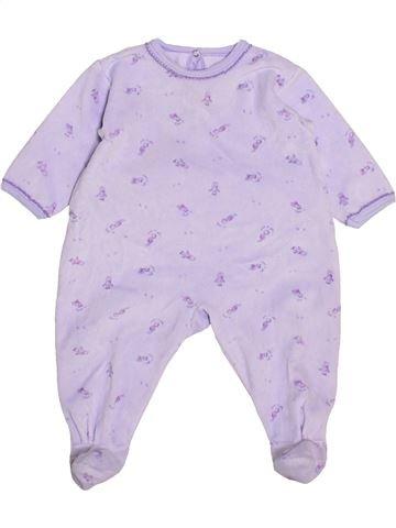 Pyjama 1 pièce fille PETIT BATEAU gris 6 mois hiver #1446267_1