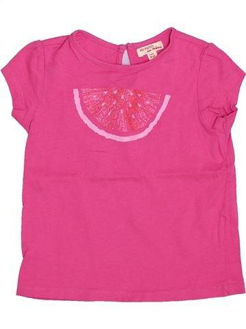 T-shirt manches courtes fille DPAM rose 3 ans été #1446388_1