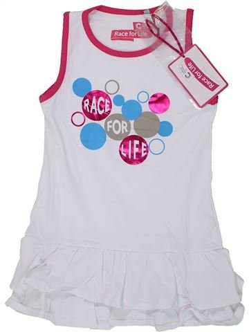 Robe fille RACE FOR LIFE blanc 4 ans été #1446457_1