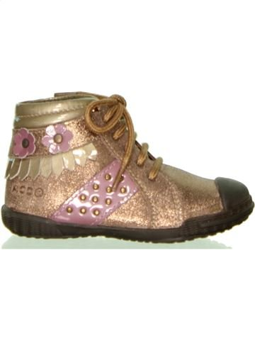 Zapatos con cordones niña MOD8 beige 21 invierno #1446519_1