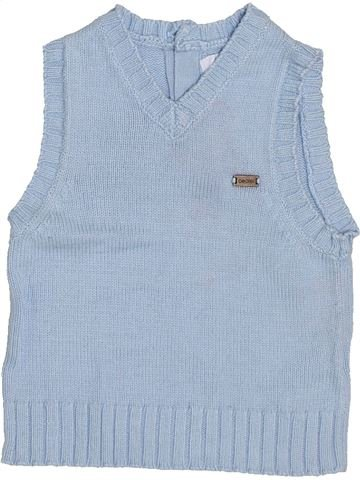 Pull garçon OKAIDI bleu 6 mois hiver #1446722_1