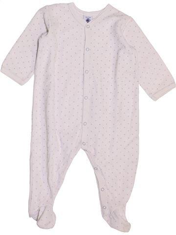 Pyjama 1 pièce fille PETIT BATEAU blanc 12 mois hiver #1447344_1