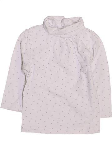 T-shirt col roulé fille KIABI blanc 9 mois hiver #1447438_1