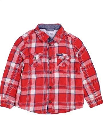 Chemise manches longues garçon OKAIDI rouge 4 ans hiver #1447876_1