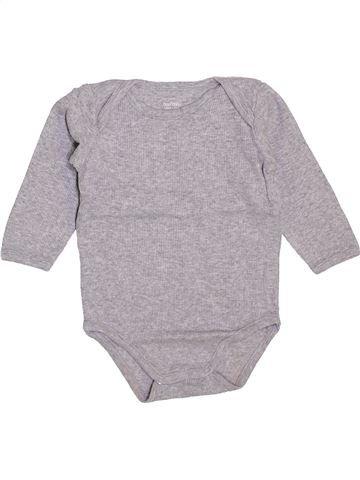 Camiseta de manga larga niño BOUT'CHOU gris 12 meses invierno #1448048_1