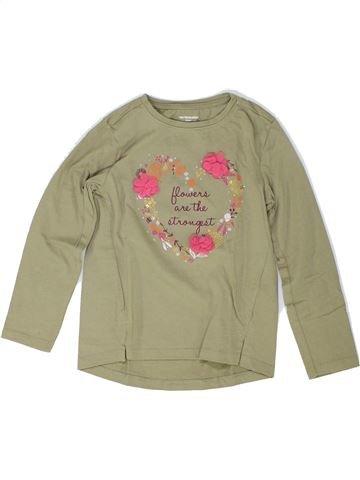 T-shirt manches longues fille VERTBAUDET beige 6 ans hiver #1448293_1