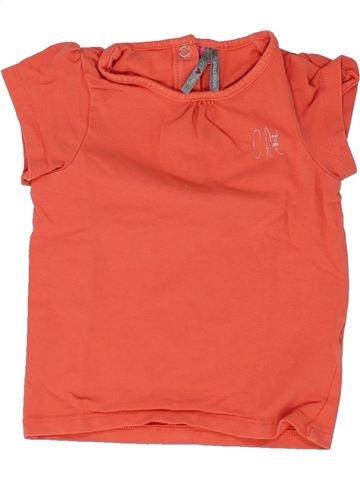 T-shirt manches courtes fille ORCHESTRA orange 2 ans été #1448475_1