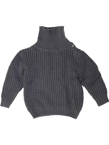 Pull fille VERTBAUDET gris 10 ans hiver #1448611_1