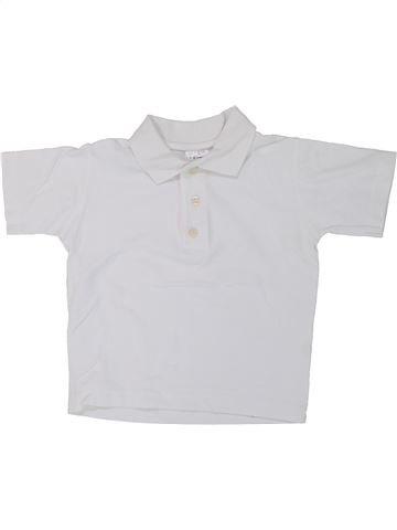 Polo de manga corta niño LADYBIRD blanco 4 años verano #1448694_1