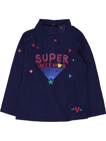 T-shirt manches longues fille DPAM bleu 18 mois hiver #1449006_1