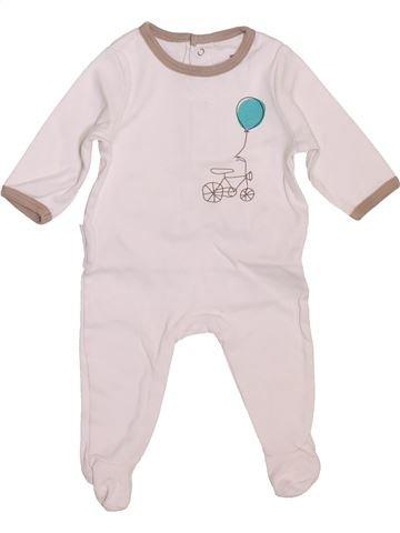 Pijama de 1 pieza niño VERTBAUDET blanco 3 meses verano #1449487_1