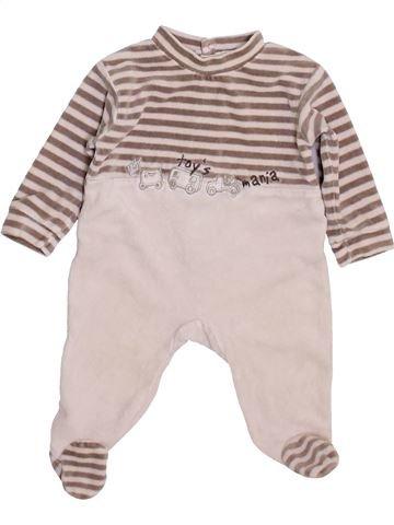 Pyjama 1 pièce garçon GRAIN DE BLÉ bleu 3 mois hiver #1449489_1