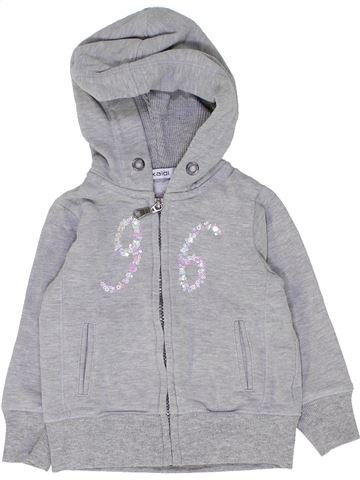 Sweat fille OKAIDI gris 2 ans hiver #1449540_1