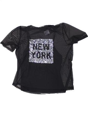 T-shirt manches courtes fille NEW LOOK noir 15 ans été #1450633_1