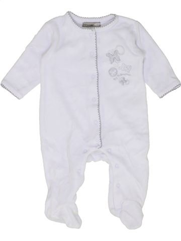 Pyjama 1 pièce fille PREMAMAN blanc 3 mois hiver #1452226_1