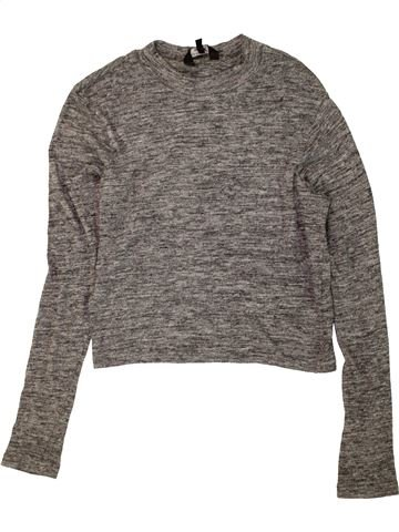 T-shirt manches longues fille NEW LOOK gris 14 ans hiver #1453452_1