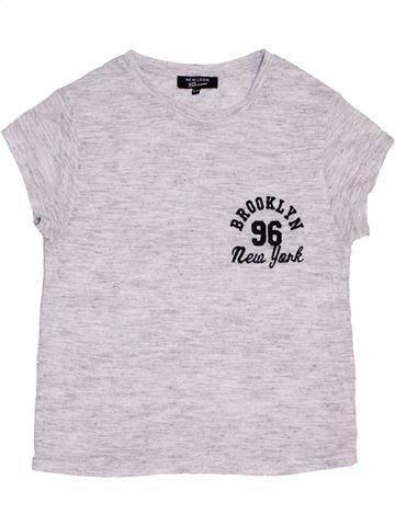 T-shirt manches courtes fille NEW LOOK blanc 13 ans été #1453513_1