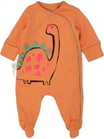 Pyjama 1 pièce unisexe NEXT orange 1 mois été #1453573_1