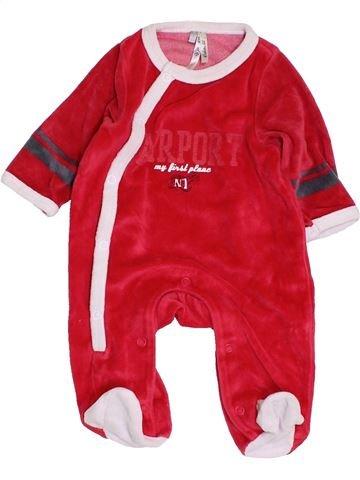 Pijama de 1 pieza niño ORCHESTRA rojo 1 mes invierno #1453678_1