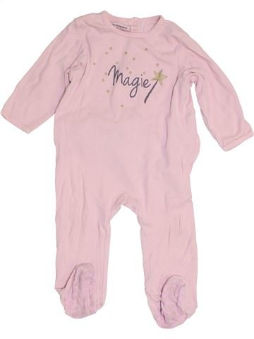 Pijama de 1 pieza niña VERTBAUDET rosa 12 meses verano #1453902_1