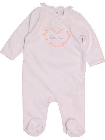 Pijama de 1 pieza niña CADET ROUSSELLE blanco 6 meses invierno #1454265_1