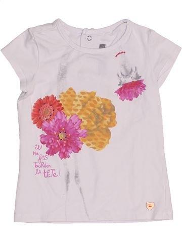 T-shirt manches courtes fille CATIMINI blanc 2 ans été #1454285_1