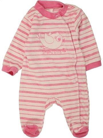 Pijama de 1 pieza niña C&A rosa 0 meses invierno #1454499_1