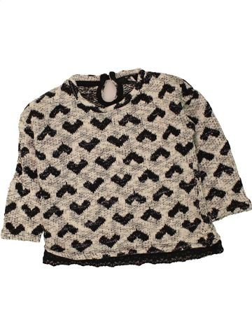 Pull fille GEORGE beige 3 ans hiver #1454745_1