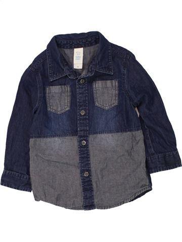 Chemise manches longues garçon C&A bleu 18 mois hiver #1454775_1