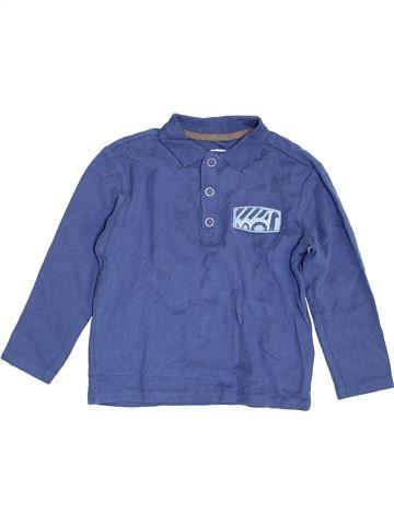 Polo de manga larga niño VERTBAUDET azul 5 años invierno #1454981_1
