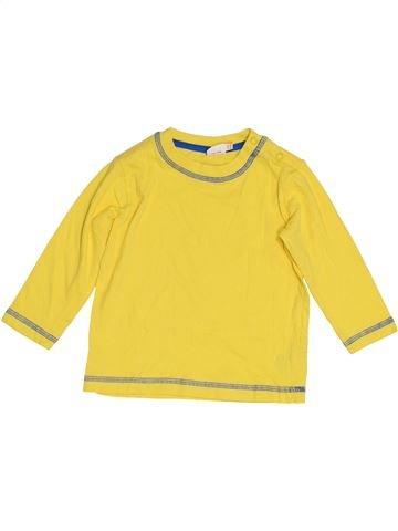 T-shirt manches longues garçon DEBENHAMS jaune 12 mois hiver #1455260_1