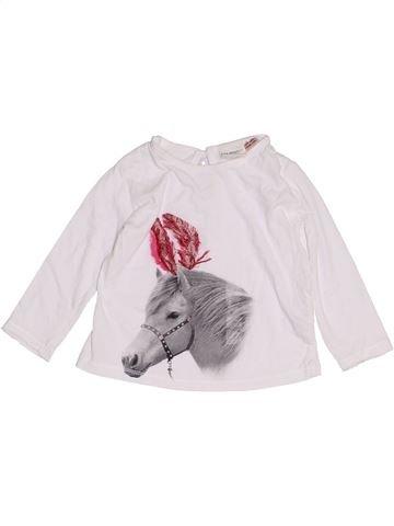 Camiseta de manga larga niña ZARA blanco 12 meses invierno #1455338_1