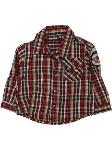 Chemise manches longues garçon BEL & BO marron 6 mois hiver #1455922_1