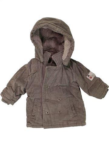 Manteau garçon OKAIDI marron 3 mois hiver #1456096_1
