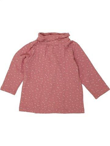 Camiseta de cuello alto niña TEX rosa 6 meses invierno #1456487_1