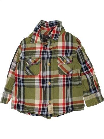 Camisa de manga larga niño H&M marrón 2 años invierno #1457056_1