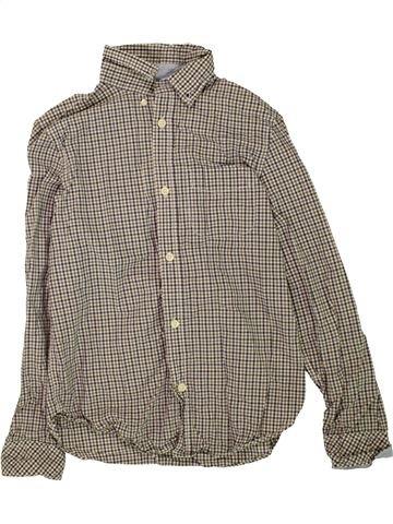 Camisa de manga larga niño H&M marrón 12 años invierno #1457216_1