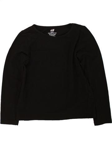 Camiseta de manga larga niña H&M negro 8 años invierno #1457263_1