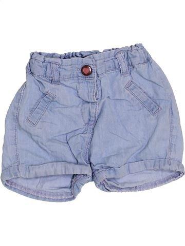 Short-Bermudas niña KIABI azul 12 meses verano #1457381_1