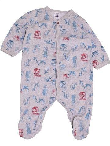 Pijama de 1 pieza niño PETIT BATEAU gris 6 meses invierno #1457646_1