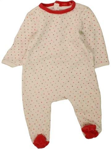 Pijama de 1 pieza niña TISSAIA blanco 3 meses invierno #1457907_1
