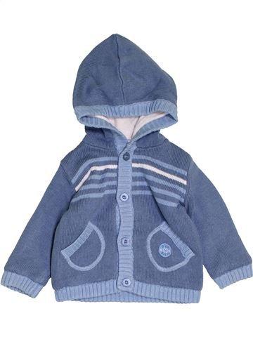 Gilet garçon P'TIT BISOU bleu 6 mois hiver #1458050_1
