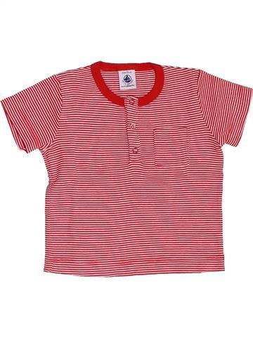 T-shirt manches courtes unisexe PETIT BATEAU rose 12 mois été #1458408_1