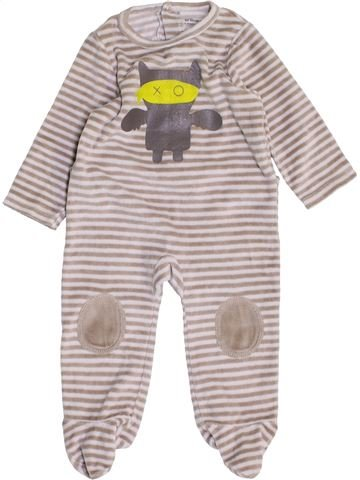 Pijama de 1 pieza niño VERTBAUDET gris 6 meses invierno #1458502_1