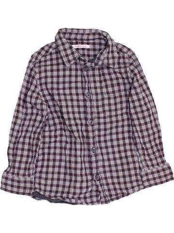 Chemise manches longues garçon MONOPRIX violet 4 ans hiver #1458825_1