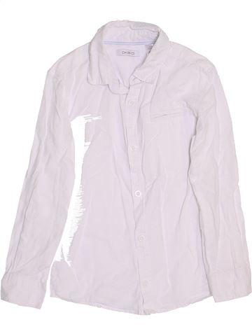 Chemise manches longues garçon OKAIDI blanc 6 ans hiver #1458947_1