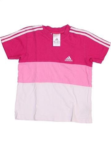 Camiseta de manga corta niña ADIDAS rosa 4 años verano #1459055_1