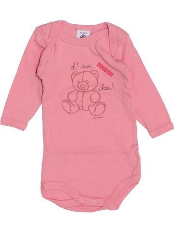 Camiseta de manga larga niña PETIT BATEAU rosa 3 meses invierno #1459165_1