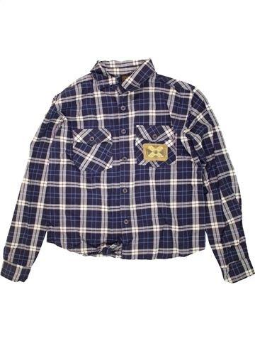 Camisa de manga larga niño SANS MARQUE azul 12 años invierno #1459658_1